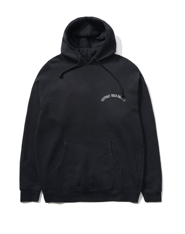 Fleece: Support Your Homies Pullover, Black