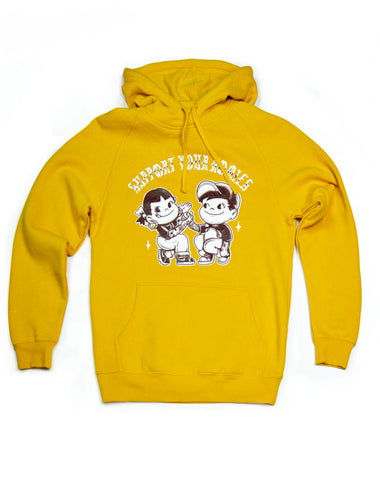 Fleece: Support Your Homies Pullover, Gold