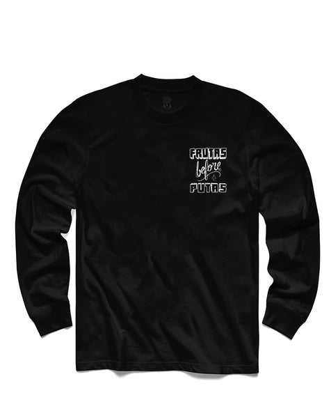 Frutas Long Sleeve, Black