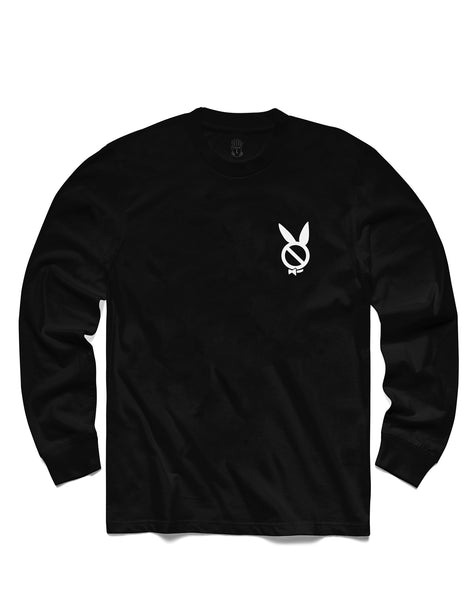 T shirt: Play'dboy Long Sleeve, Black