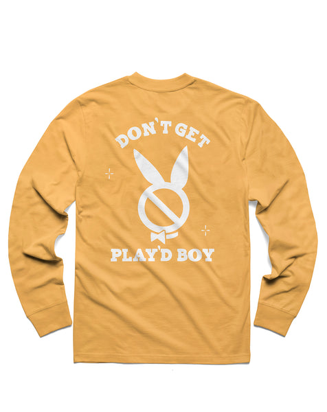 T shirt: Play'dboy Long Sleeve, Mustard