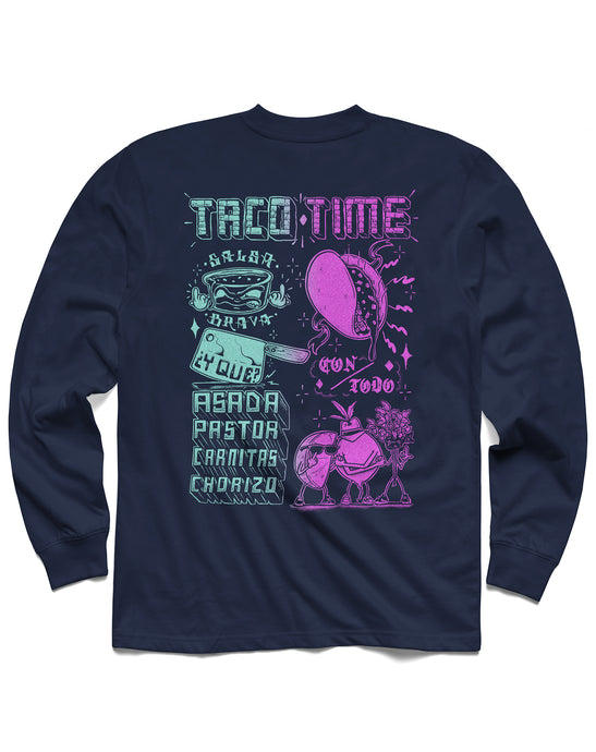 Taco Time Long Sleeve, Navy