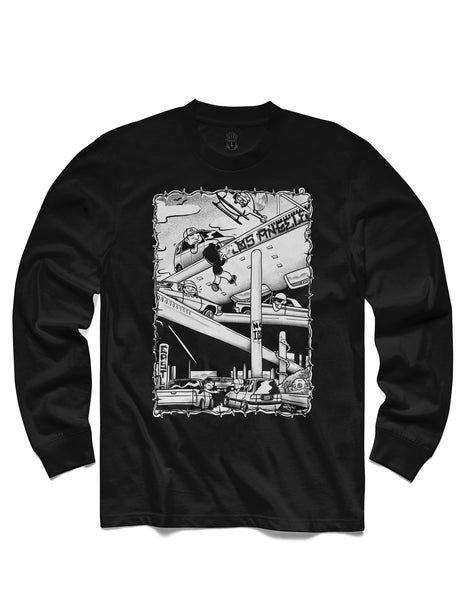 Traffic Jams Long Sleeve, Black