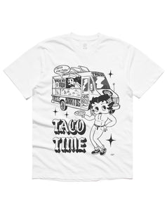 Taco Time Short Sleeve, White