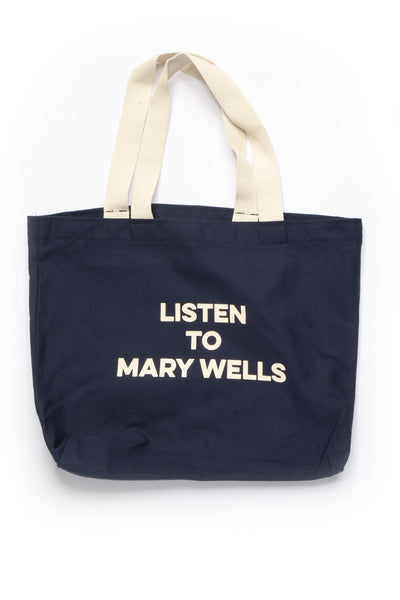 Listen to Mary Wells tote bag, Navy
