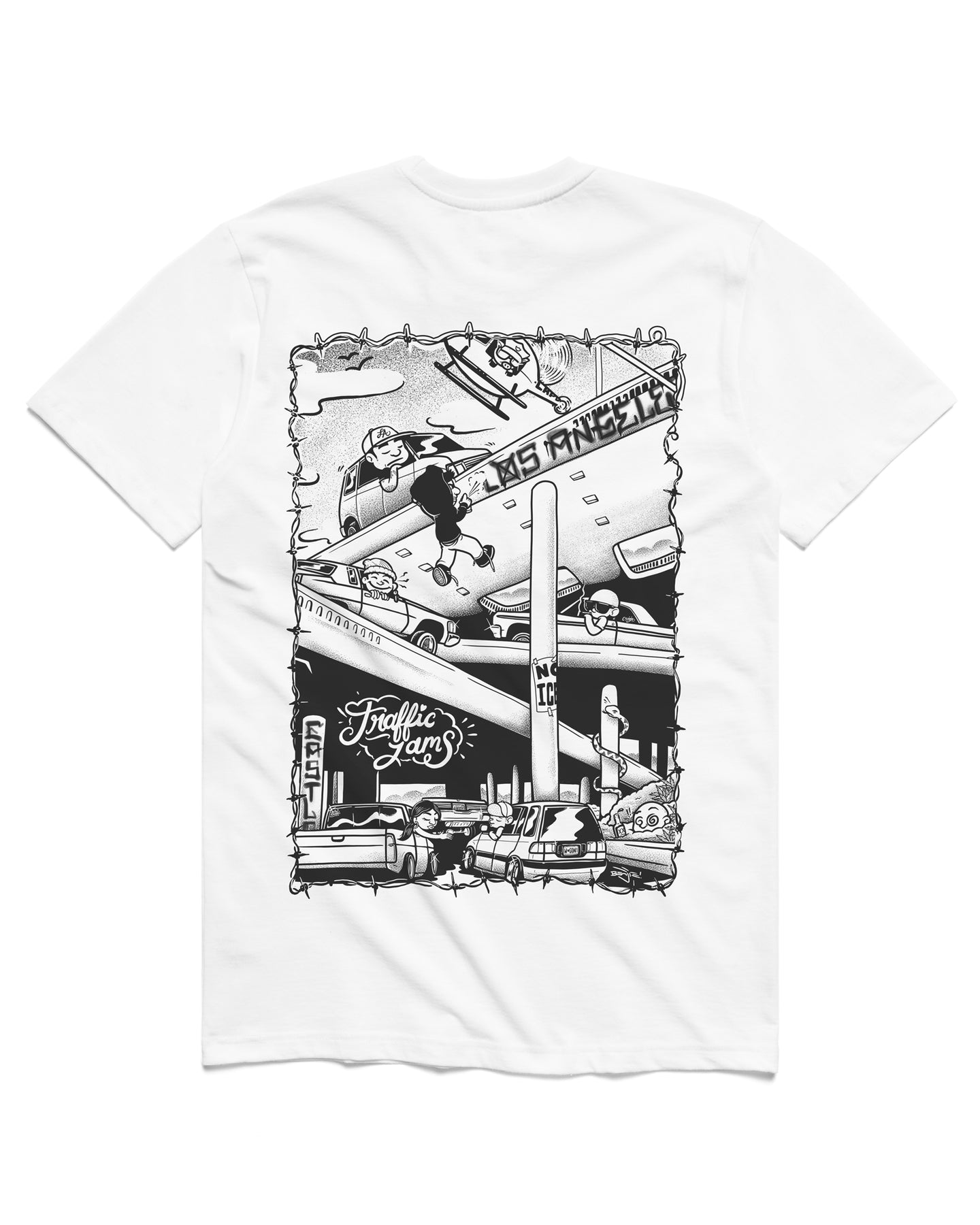 Traffic Jams Short Sleeve, White