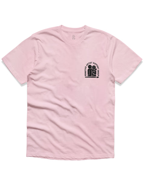 T shirt: Sensitive Artist Short Sleeve, Pink