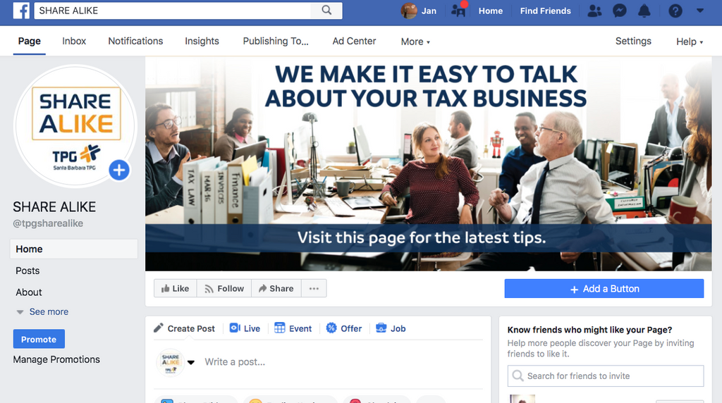 TPG Facebook Page link to get shares, tips, and links to grow your business – Free