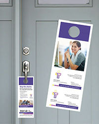 Refund Transfer Brand-able Door Hangers — Free