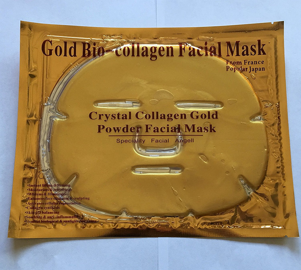 Gold Bio Collagen Face Mask + Pair Gold Eye Pads Patch Mask FREE USA Shipping!!