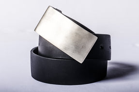 Plate Buckle Belt (4390, MR+BLK)