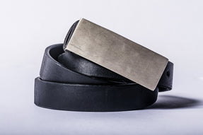 Plate Buckle Belt (2980, MR+BLK)
