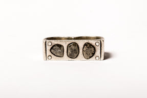 Plate Ring Double (6.6 CT, Multi XL-Stone, MA+DIA)