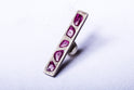 Plate Earring (1.3-1.5 CT, Multi Ruby Slice, 34mm, DA+RUB)
