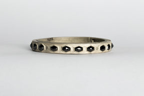 Sistema Bracelet (Fancy Setting, Black Hex Diamond, 10.08 carats, 9mm, DA+BLKDIA)