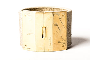 Box Lock Bracelet (Facet, Wide, FLE+AG)