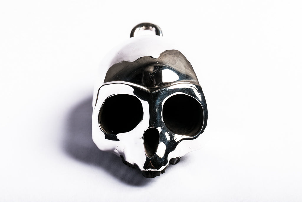 Resin Monkey Skull with Silver Mask (KRES+PA)