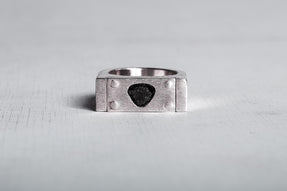 Plate Ring Single (0.8 CT, Single M-Stone, 9mm, MA+DIA)