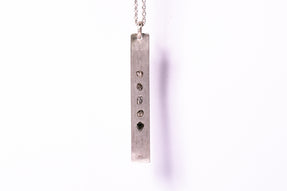Plate Necklace (1.8 CT, 5 Diamond Slabs, DA+DIA)
