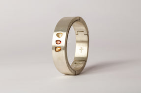 Sistema Bracelet v2 (2.87 CT, 3-Stone, Sapphire Faceted Slab, 17mm, MA+SAF)