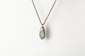 Chrysalis Necklace (Cremaster Emergence, Rainbow Moonstone, DA+RMS)