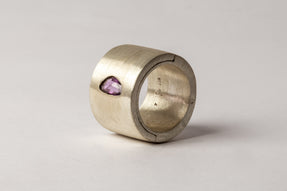Sistema Ring (1.07 CT, Purple Sapphire Faceted Slab, 17mm, MA+SAF)