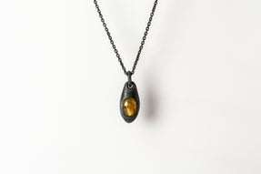 Chrysalis Necklace (Cremaster Emergence, Rutilated Quartz, KA+RQ)