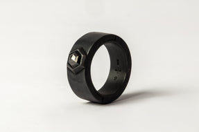Sistema Ring (Fancy Setting, Black Hex Diamond, 1.05 CT, 9mm, KA+BLKDIA)