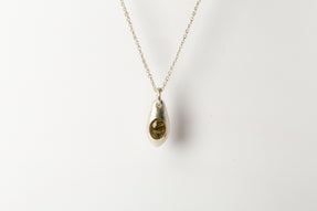 Chrysalis Necklace (Cremaster Emergence, Rutilated Quartz, MA+RQ)