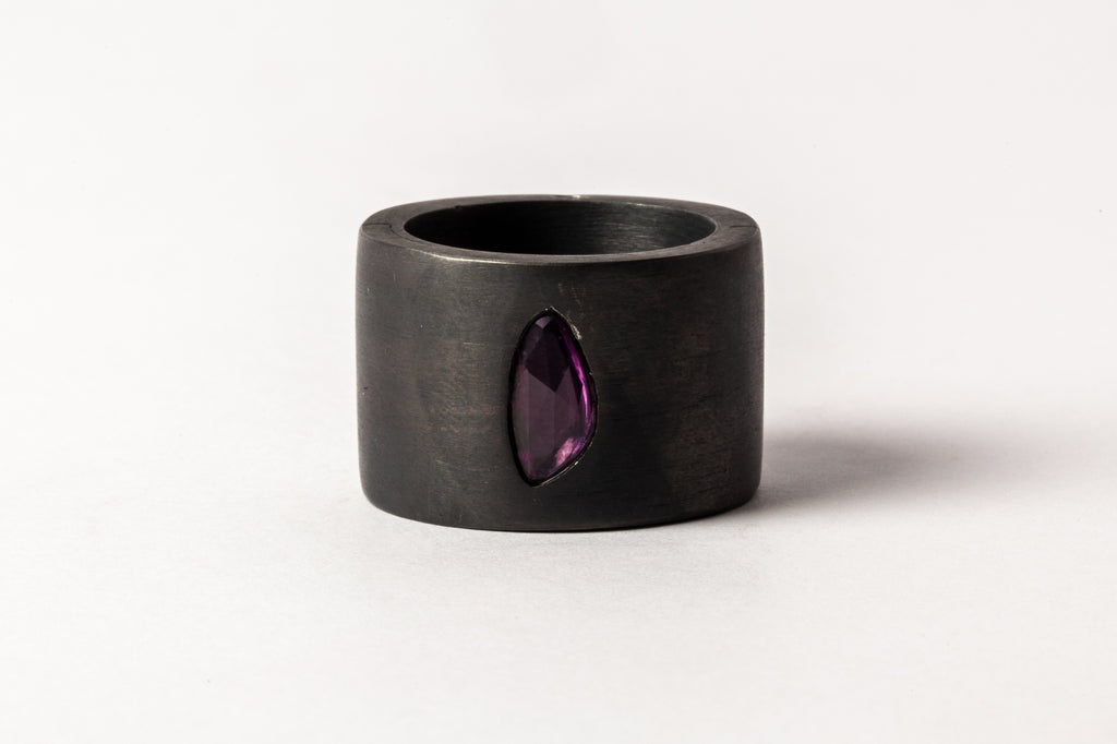 Sistema Ring (0.90 CT, Pink Sapphire Faceted Slab, 17mm, KA+SAF)