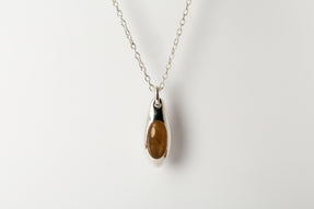 Chrysalis Necklace (Cremaster Emergence, Rutilated Quartz, PA+RQ)