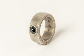 Sistema Ring (Fancy Setting, Black Hex Diamond, 1.05 CT, 9mm, DA+BLKDIA)
