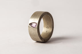 Sistema Ring (0.49 CT, Purple Sapphire Faceted Slab, 9mm, DA+SAF)