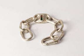 Small Link Bracelet w/ Small Closed Link (1-Setting, Tourmaline, MA+TOU)