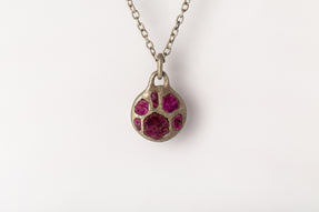 Disk Necklace (45mm, Ruby Slabs, DA+RUS)