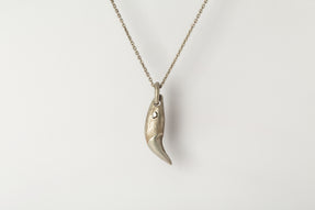 Bear Tooth Necklace Ghost (Small, 0.2 CT, Diamond Slab, DA+DIA)