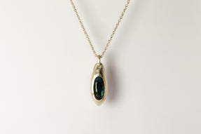 Chrysalis Necklace (Cremaster Emergence, Labradorite, MA+LAB)