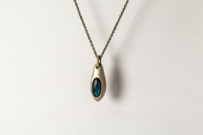 Chrysalis Necklace (Cremaster Emergence, Labradorite, DA+LAB)