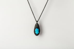 Chrysalis Necklace (Cremaster Emergence, Labradorite, KA+LAB)