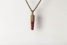 Talisman Necklace SPECIMEN (Ruby, DA+DRUS)