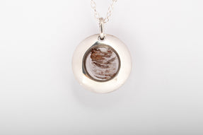 Disk Gateway Necklace (Glacial Quartz, PA+GLA)