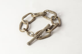 Roman Toggle Chain Bracelet (Small Links, Mega Pavé, DA+DIA)