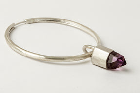 Hoop Earring (One Talisman Dangle, Amethyst, MA+AME)