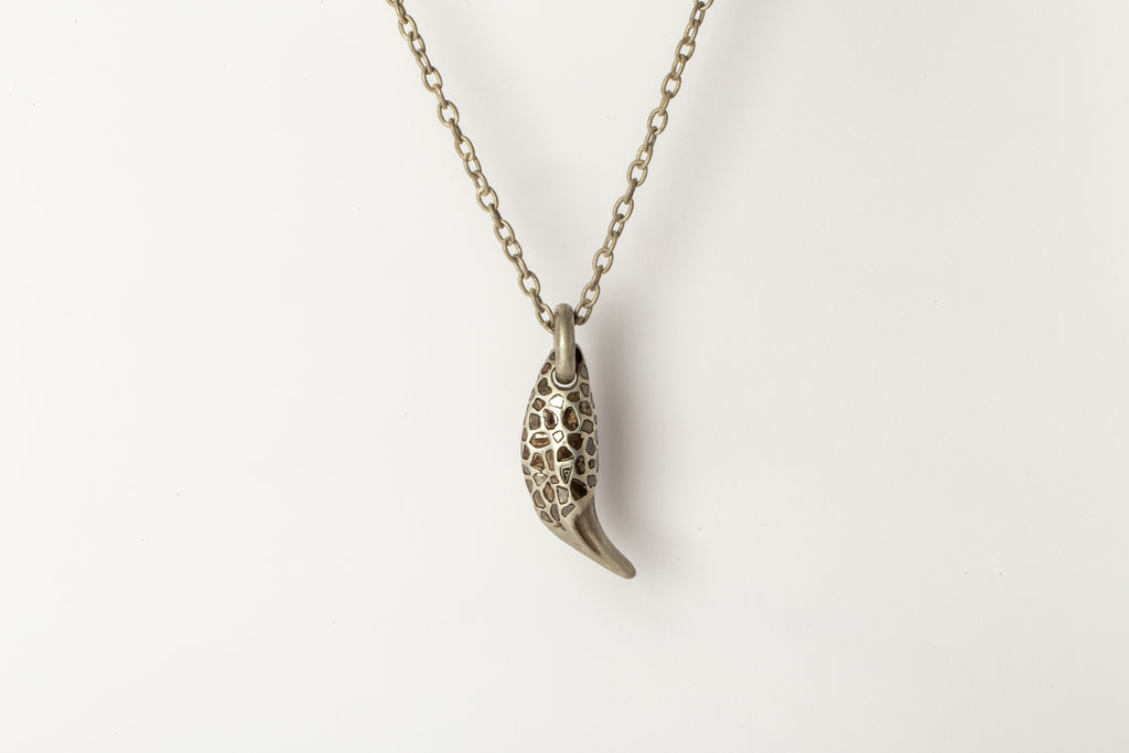 Bear Tooth Necklace Ghost (Large, Mega Pave, DA+DIA)