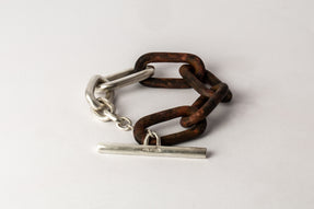 Toggle Chain Bracelet (Medium Links, DR+MA)