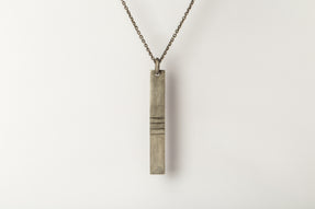 Plate Necklace (Acid Etch, 4-lines, DA)