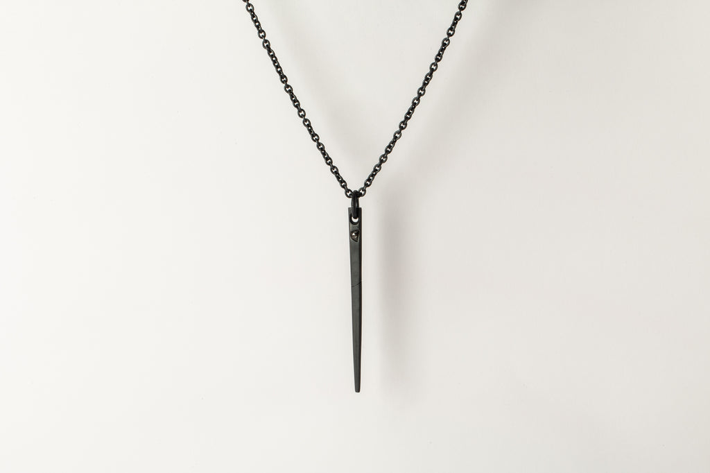 Spike Necklace (0.3 CT, Chunky Diamond Slab, KA+DIA)