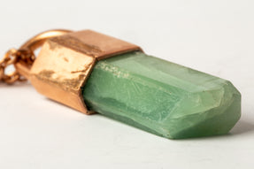 Talisman Necklace SPECIMEN (Green Aquamarine, AM+AMA+GAQU)