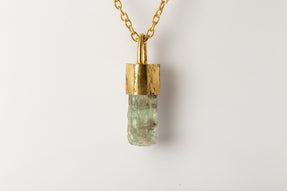 Talisman Necklace SPECIMEN (Green Aquamarine, AG+AGA+GAQU)