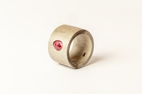 Sistema Ring (0.6 CT, Single Ruby Slice, 17mm, DA+RUB)